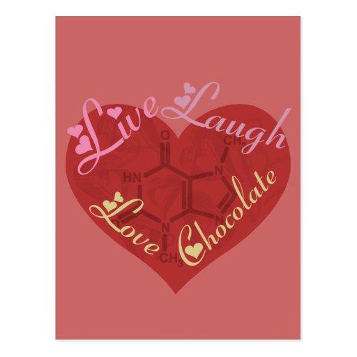 Chocolate Love Valentine Postcard