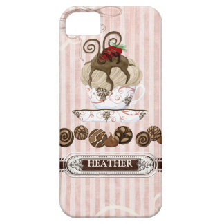 Chocolate Lover Addict Candy Swirls Cell Case