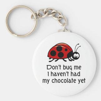 Chocolate Lover Ladybug Keychain