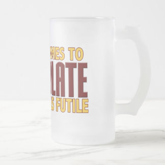Chocolate Lovers Frosted Glass Mug