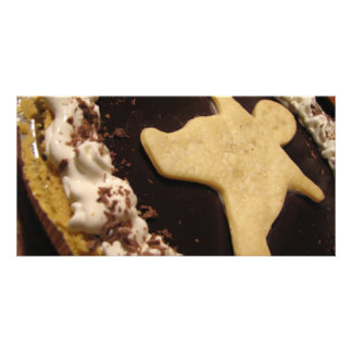 Chocolate Man Pie Photo Card Template