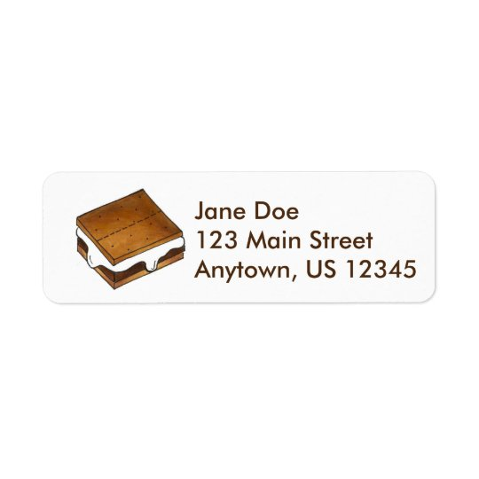 Chocolate Marshmallow Campfire Smore Smores Labels