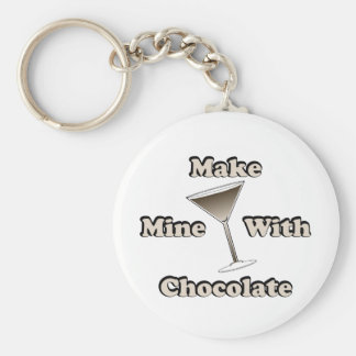Chocolate Martini Key Ring