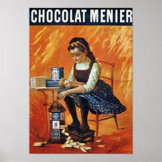 Chocolate Menier Poster