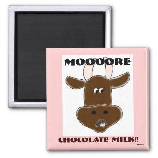 Chocolate Milk Square Magnet