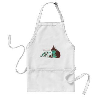 Chocolate mint _cat apron