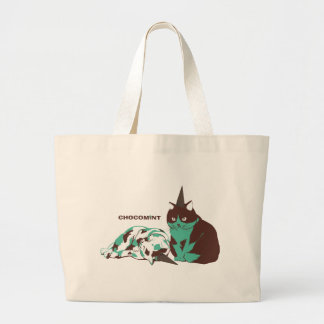 Chocolate mint _cat tote bag