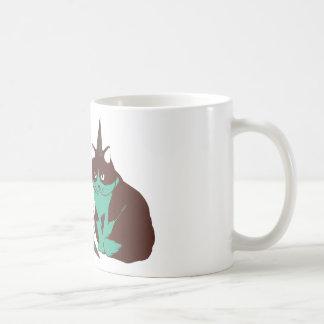 Chocolate mint _cat basic white mug