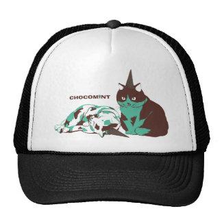 Chocolate mint _cat trucker hat