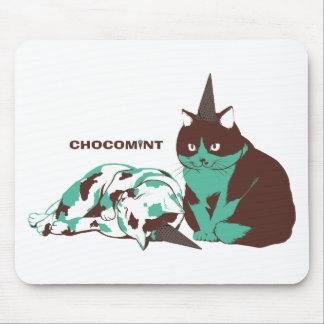 Chocolate mint _cat mousepads