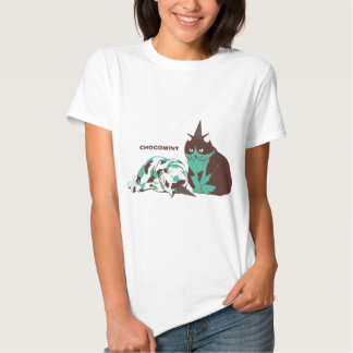 Chocolate mint _cat shirt