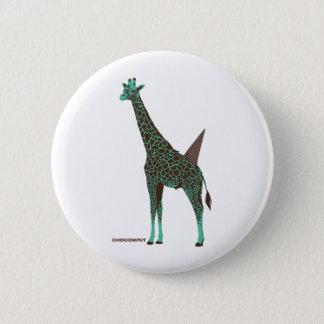 Chocolate mint giraffe 6 cm round badge