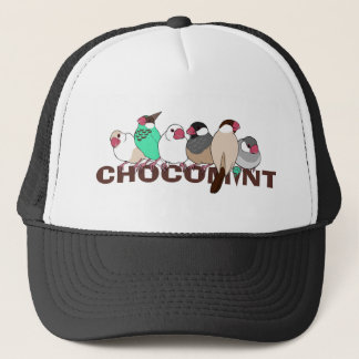 Chocolate mint java sparrow trucker hat