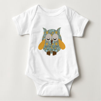 Chocolate Mint Owl Baby Bodysuit