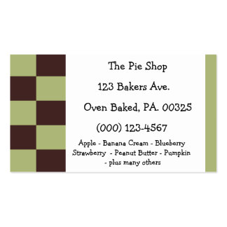 Chocolate Mint Pie Colors Business Card Template