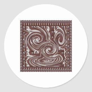 CHOCOLATE Monster TEMPLATE Resellers Welcome GIFTS Classic Round Sticker
