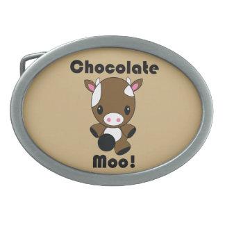 Chocolate Moo Kawaii Cow Belt Buckle
