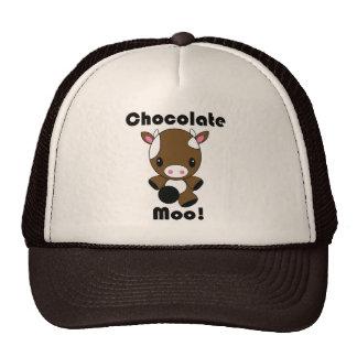 Chocolate Moo Kawaii Cow Trucker Hats