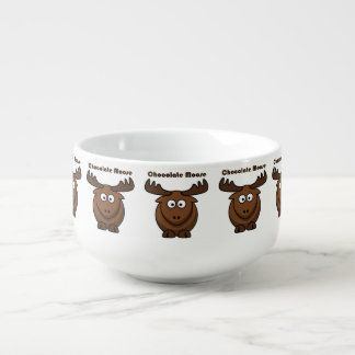 Chocolate Moose Cartoon Soup Mug