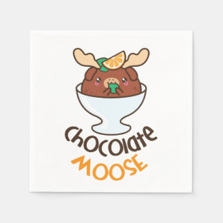Chocolate Moose Mousse Paper Napkins