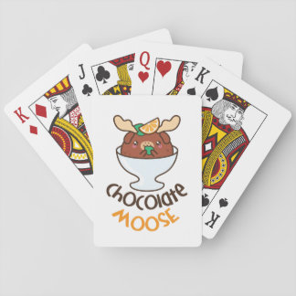 Chocolate Moose Mousse Playing Cards