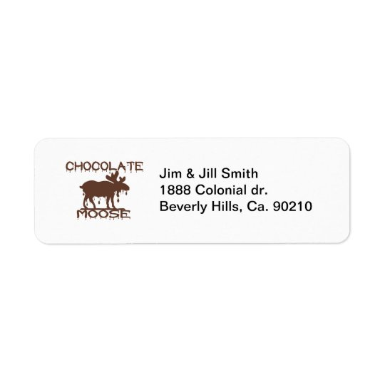 Chocolate Moose Return Address Label