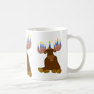Chocolate Moose with Candles Coffee Mugs