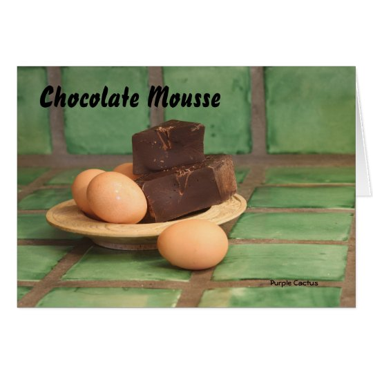 Chocolate Mousse Card