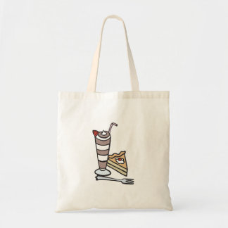 chocolate mousse dessert budget tote bag