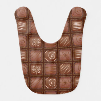 Chocolate Pattern Bib