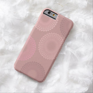 Chocolate Peach Champagne Lace Doily Barely There iPhone 6 Case