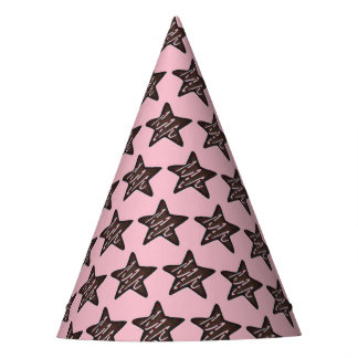 Chocolate Peppermint Star Christmas Holiday Cookie Party Hat