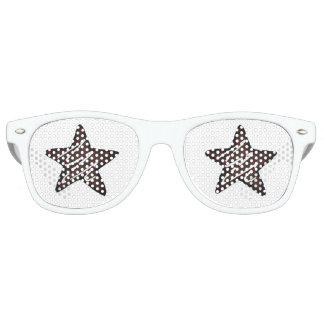 Chocolate Peppermint Star Christmas Holiday Cookie Retro Sunglasses