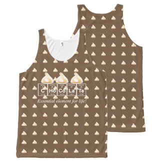 Chocolate Periodical Design All Over Tank