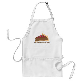 chocolate pie apron- wanna piece of me? standard apron