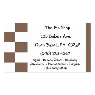 Chocolate Pie Colors Business Cards