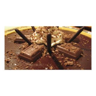Chocolate Pocky Pie Photo Card