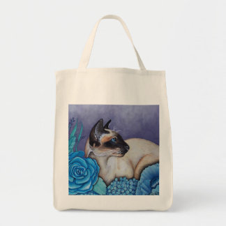 Chocolate Point Siamese  Cat Tote Bag