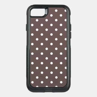 Chocolate Polka Dots OtterBox Commuter iPhone 8/7 Case