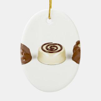 Chocolate pralines ceramic ornament