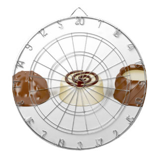 Chocolate pralines dartboard