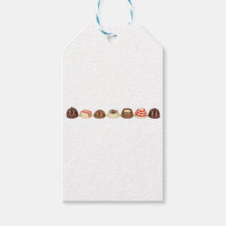 Chocolate pralines gift tags