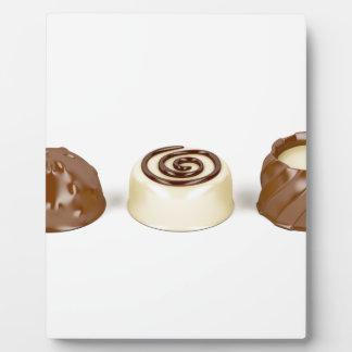 Chocolate pralines plaque