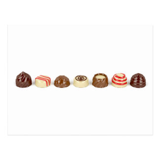 Chocolate pralines postcard