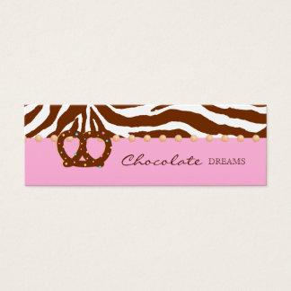 Chocolate Pretzel Bakery Bookmark Price Tag Mini Business Card
