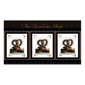 Chocolate Pretzel Business Cards