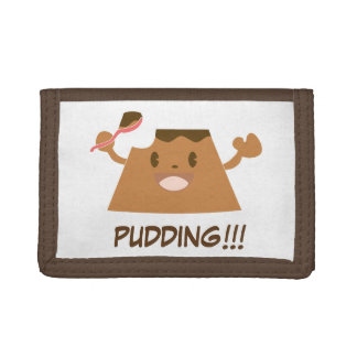 Chocolate PUDDING!!!! Tri-fold Wallets