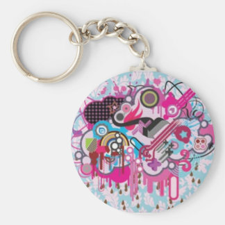 Chocolate Rain Basic Round Button Key Ring