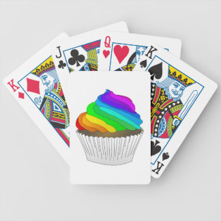 Chocolate Rainbow Cupcake Bicycle Playing Cards