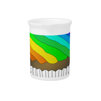 Chocolate Rainbow Cupcake Pitcher